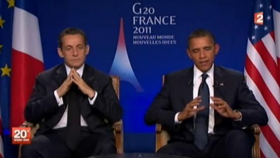 Interview croisée: Pourquoi Barack Obama s'est-il assis à la gauche de Nicolas Sarkozy ? Par Myriam Hoffmann